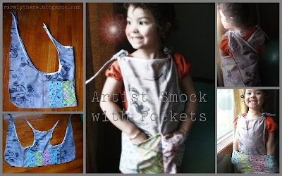 sewing pattern artist smock for kids