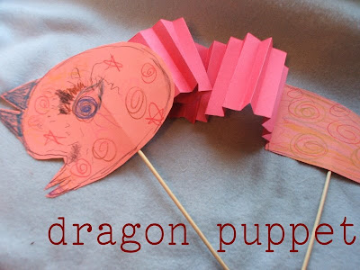 kids craft dragon puppet chinese new year ox 2009