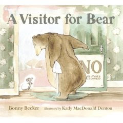 visitor for bear kady mcdonald dneton bonny becker children's book review