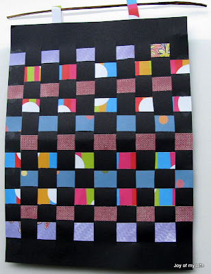 kids crafts paper weaving