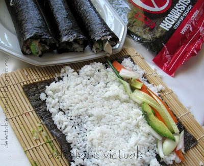 easy recipe sushi california rolls vegetarian Hosomaki
