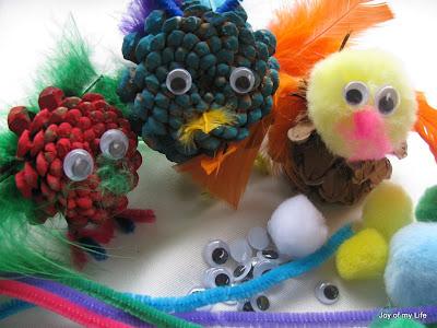 Kids Crafts: Pinecone Creatures