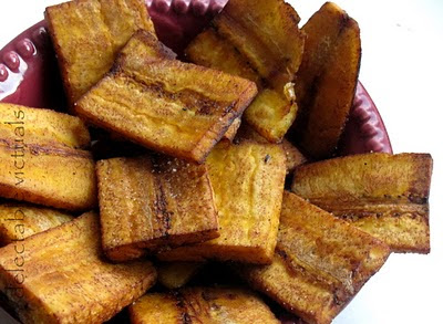 Pan-fried Plantain Wedges and Plantain Chips vazhakkai podimaas vazha poduthuval