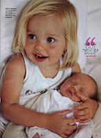 Angelina Jolie , Brad Pitt the twins