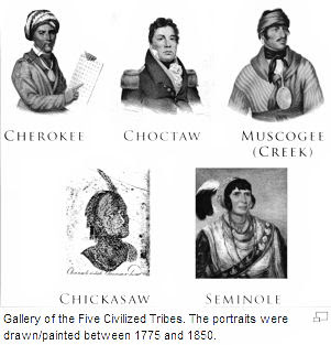 a description of the cherokee indians one of the four civilized tribes in the united states The five civilized tribes were a group  an indian was one party and a citizen of the united states or a corporation was the other  five tribes within the.