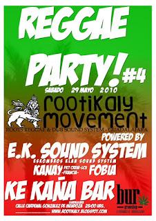 REGGAE PARTY#4 @ KE KAÑA - GUADALAJARA Mayo10web