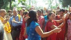 People celebrate local festival