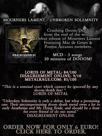 MOURNERS LAMENT -  EP UNBROKEN SOLEMNITY - OUT NOW!!!!