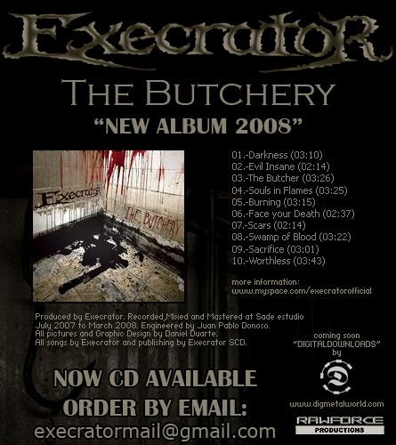 execrator -  the butchery cd 2008