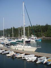 DeLaMer at Great Island Boat Yard