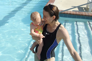 Em and Sierra at the Woodberry Forest outdoor pool
