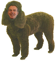 Poodle-man Tony Blair in the Royal Zoo of UK