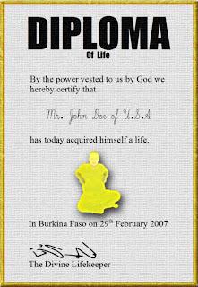 Sample Diploma of Life
