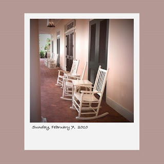 white rocking chairs Opryland Resort Nashville iPhone polaroid