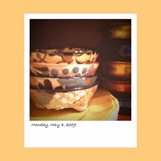 iPhone polaroid, Mexican small bowls