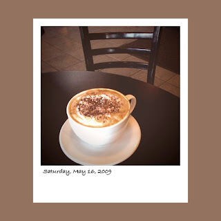 iPhone polaroid, coffee latte