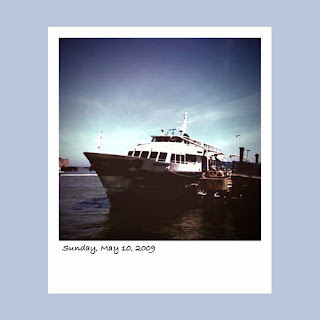 iPhone polaroid, San Francisco ferry