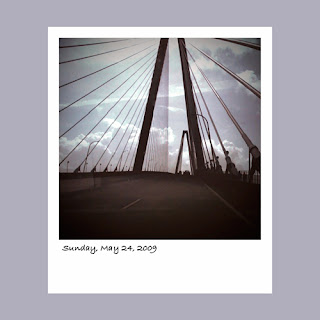 iPhone polaroid, Aruth Ravenel Bridge Charleston