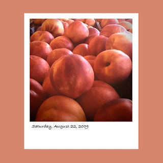 iPhone polaroid, peaches