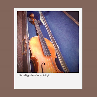 Antiques By The Bay, vintage violin, iPhone polaroid
