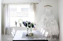Brudekjolen min på veggen