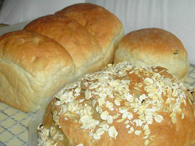 My loaves of Light Oat Bread, simply delectable!