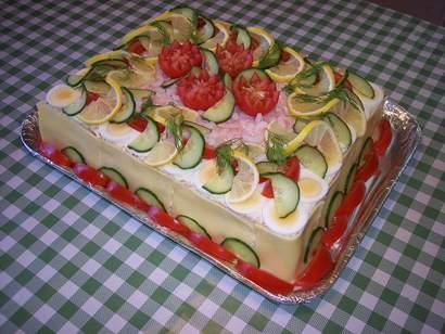 Бутербродные торты с фотографиями