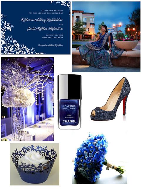 Midnight Blue Inspiration Board