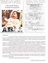 Clara Anahí Mariani, secuestrada por el Terrorismo de Estado en 1976