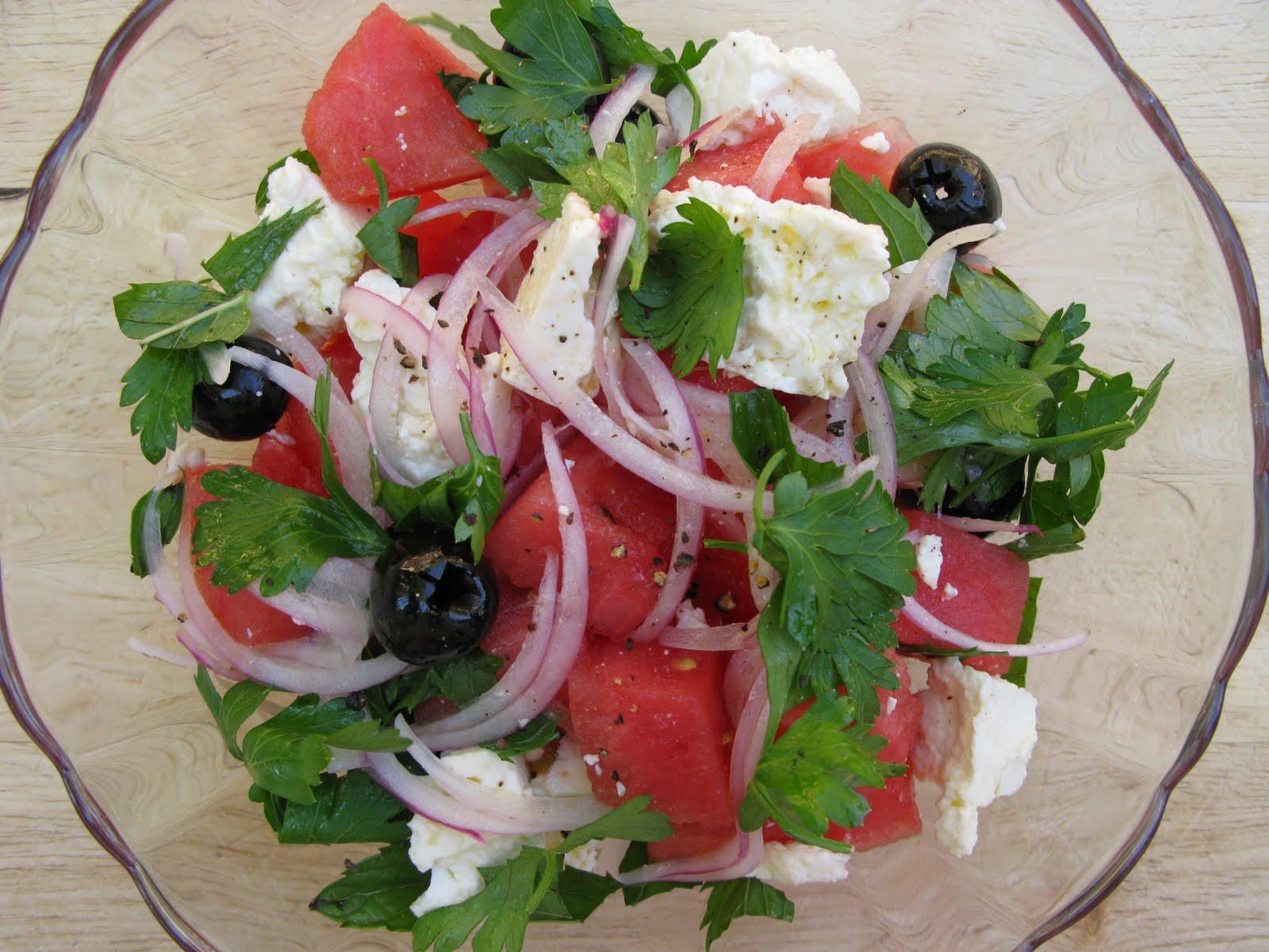Au gr du march salade de melon d 39 eau past que la feta - Salade de pasteque ...
