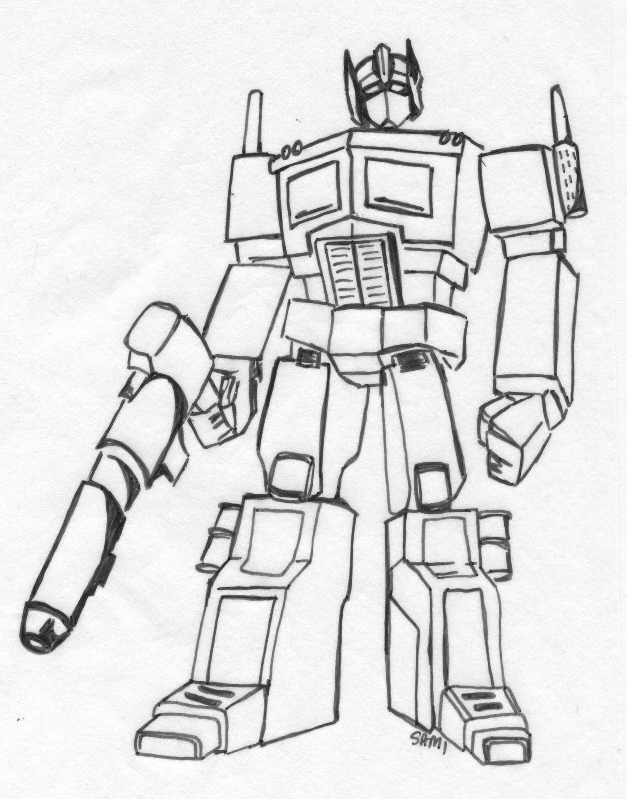 coloring pages optimus prime - photo#4