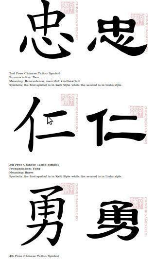 Tatuajes De Letras Chinas
