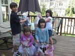 Kevin, Keira, Kyla, Haley - Easter 2009