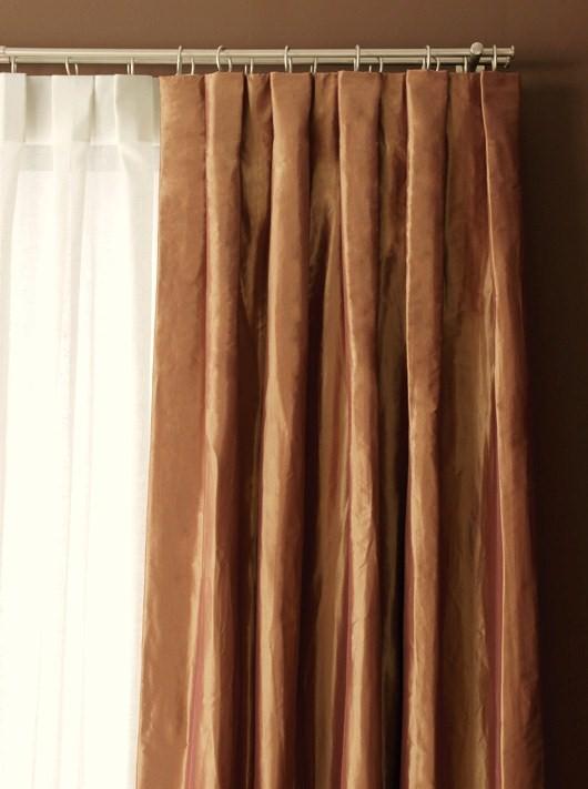 Dise o y decoraci n lm cortinas plisadas for Ganchos para cortinas de tela