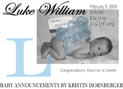 baby announcement email