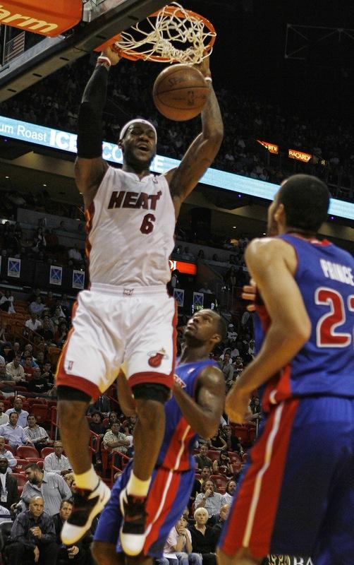 lebron james dunk 2010. Lebron James Dunk Heat - Page