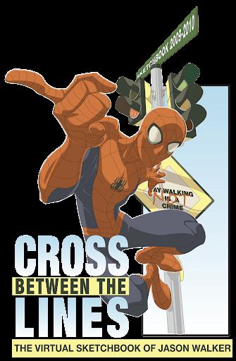 Cross between the lines