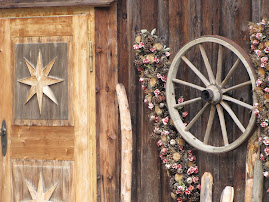 Decorations on alpine hut