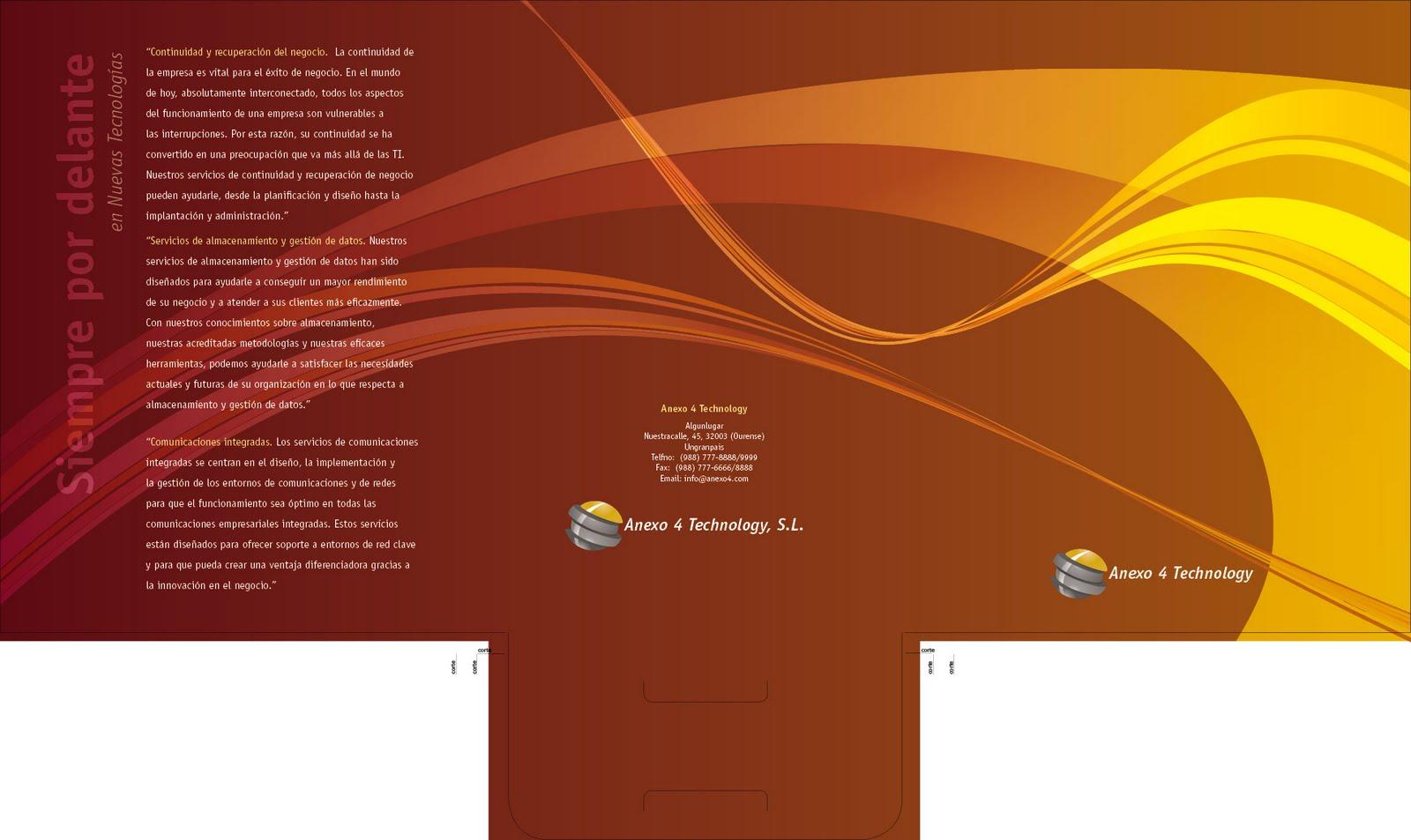 Curso de Diseño Gráfico: InDesign 7. Carpetillas empresa de tecnología.