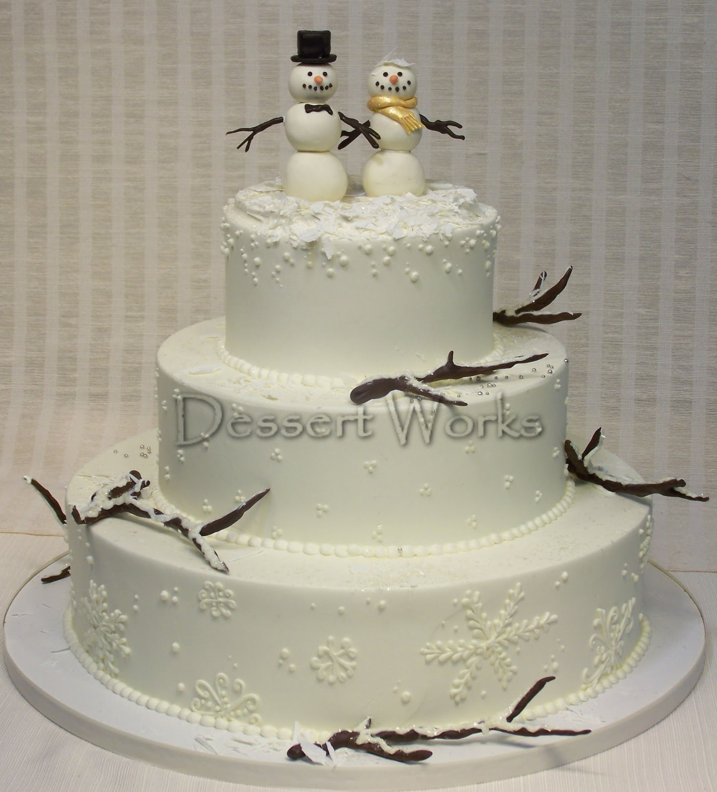 Winter Wonderland Snowflake Wedding Cake Viewing Gallery