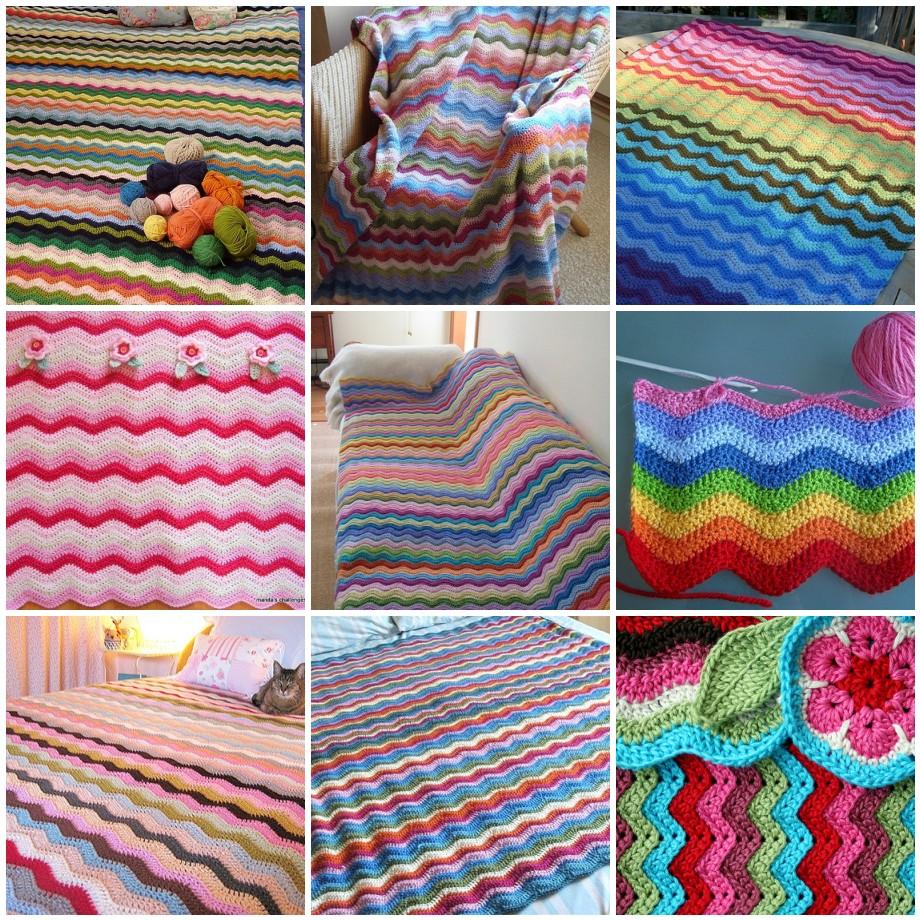 Тунисское вязание зигзаг