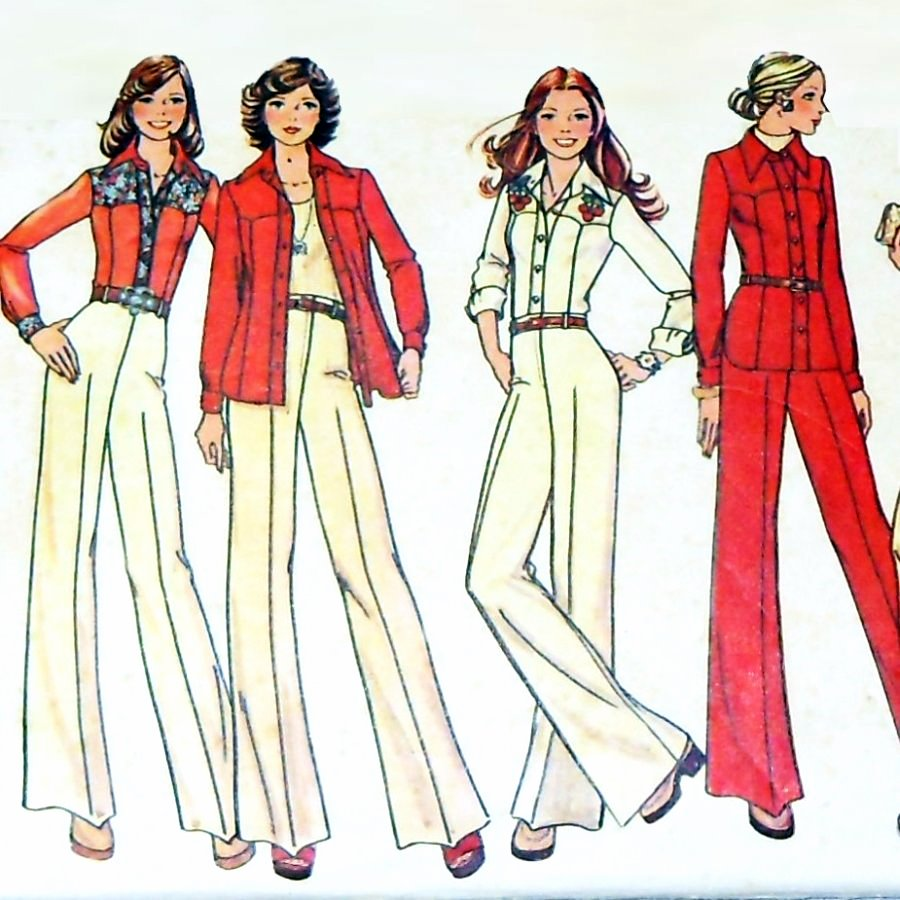 70s western shirts and wide leg pants the sewinghappyplace 70s western shirts and wide leg pants vintage 70s sewing pattern jeuxipadfo Images