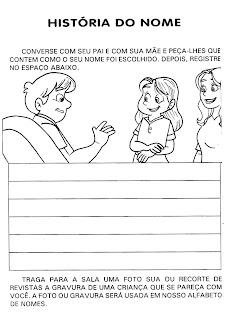 ed+inf ATIVIDADE HISTÓRIA DO NOME para crianças