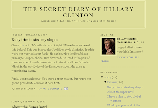 Hillary Clinton's Blog?