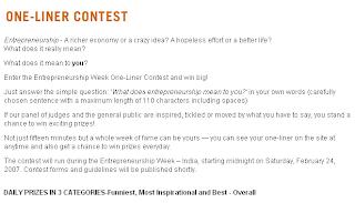 India Entrepreneurship Week Feb 24 Mar 03 2007 Blog Of Himanshu