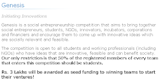 Genesis:Targeting Social Entrepreneurship