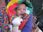 Violet enjoying her quilt