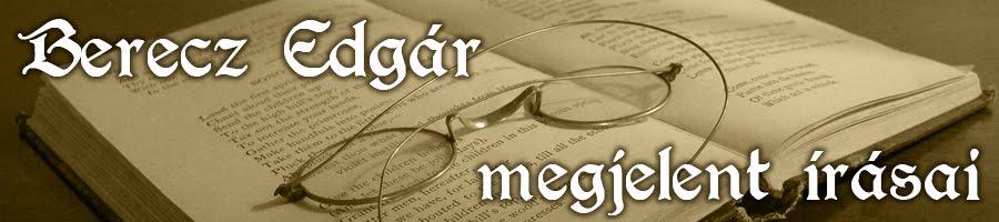 Berecz Edgár megjelent művei - útleírások, szakácskönyvek, pincérkönyvek, gasztronómia