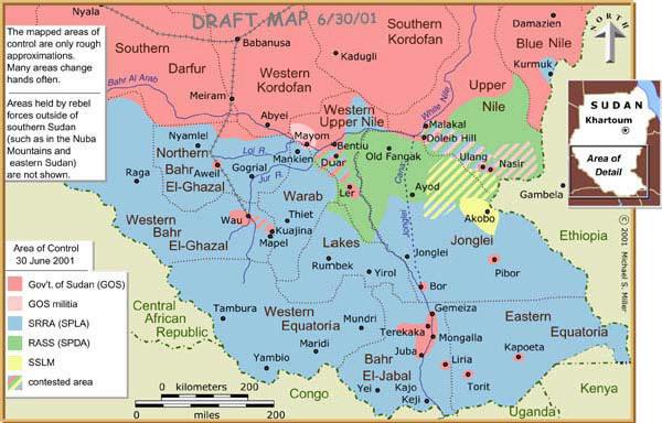 Safari Notes: South Sudan Map: Where will its new capital be?