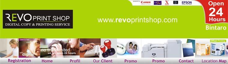 REVO Print Shop Open 24 Hours at Bintaro & Fatmawati Jakarta Selatan